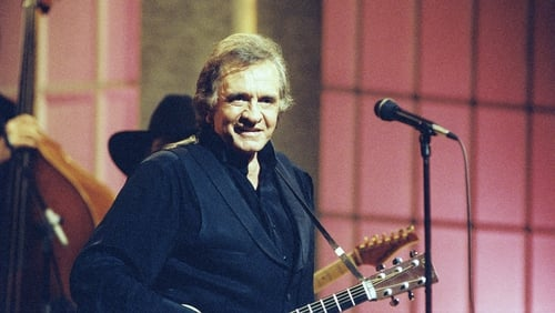 Johnny Cash on stage in Dublin (1993) Credit RTÉ Photographic Archive