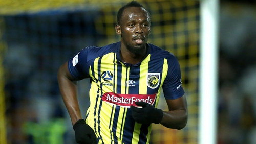 Usain Bolt scored twice in a friendly for Central Coast Mariners