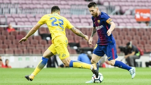 Gareth Southgate has sent his squad footage of Barcelona's match against Las Palmas in an empty Nou Camp