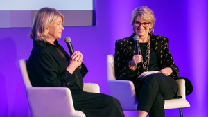 Martha Stewart and Anne Finucane at the Global Forum in Dublin