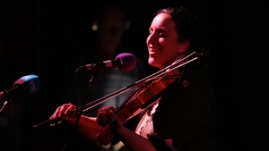 Karen McLaughlin of The Henry Girls at Sunday Miscellany's Derry show