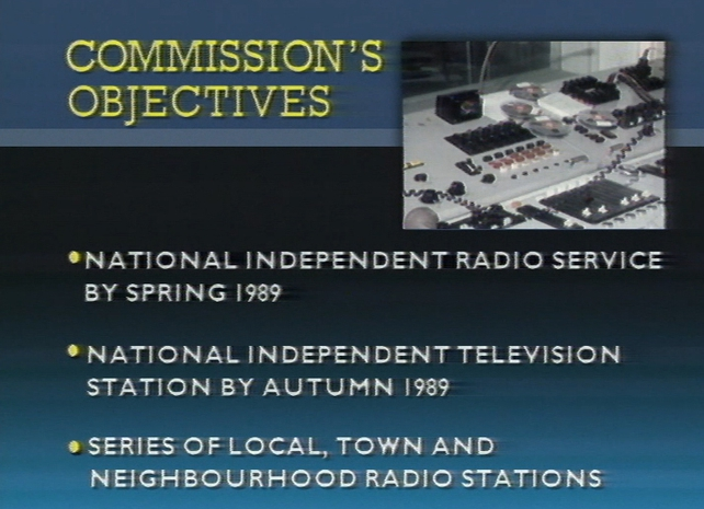 Independent Radio and Television Commission - Objectives (1988)