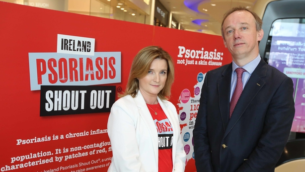 Psoriasis Advocate Helen Hanrahan and Professor Brian Kirby consultant Dermatologist at St. Vincent's University Hospital