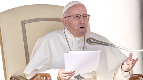 Pope Francis made his off-the-cuff comments in an address to tens of thousands in St Peter's Square