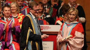 Hillary Clinton received an honorary doctorate from Queen's in October 2018