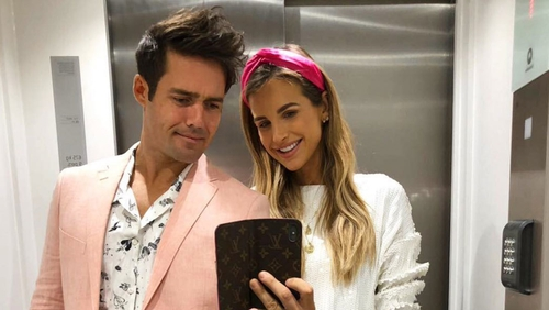 Spencer Matthews and Vogue Williams, image via Instagram