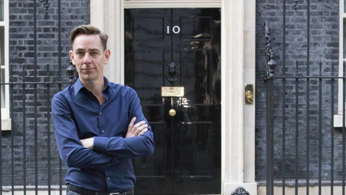 Ryan Tubridy outside No. 10 Downing Street in London ahead of Friday's Late Late Show