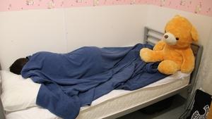 An Iranian girl in the Australian detention centre on Nauru