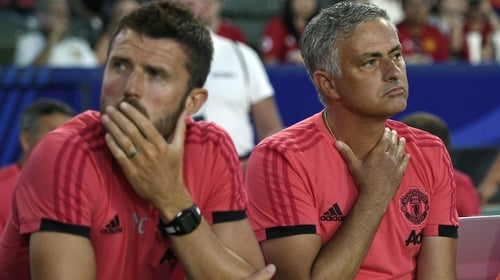 Michael Carrick became a coach under Mourinho at United this season