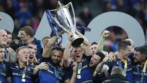 Leinster celebrate last May's European triumph