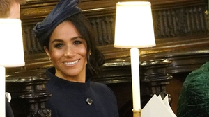 Many guests opted for deeper, autumnal colours like Meghan