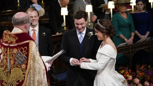The couple were married on Friday Photo: Press Association