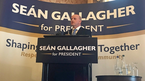 Seán Gallagher launched his election campaign today