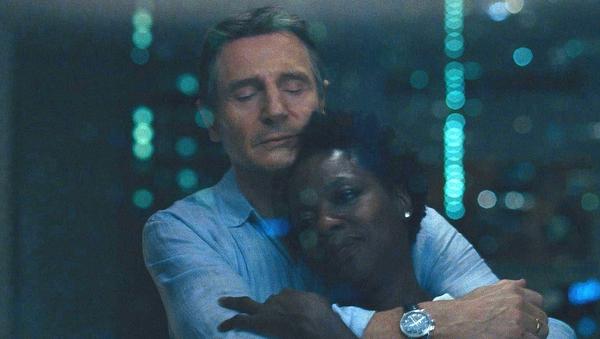 Liam Neeson and Viola Davis in Widows
