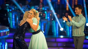Katie Piper says goodbye to host Tess Daly as Gorka Márquez applauds his dance partner