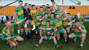 The Rhode players celebrating their sixth Offaly crown of the decade