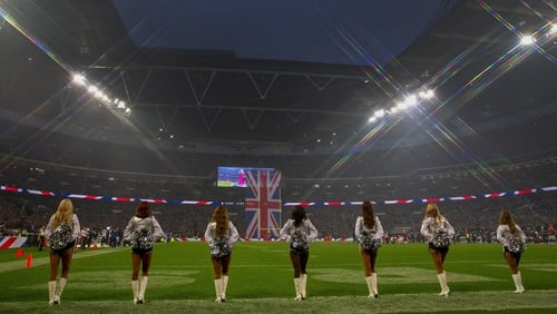Wembley hosted the game between Seattle Seahawks and the Oakland Raiders