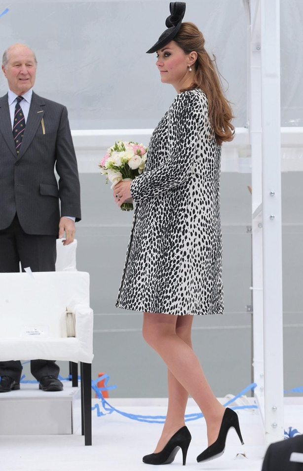 The Duchess of Cambridge at Ocean Terminal in Southampton (Chris JacksonPA)