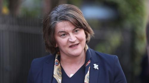 Arlene Foster was speaking in Dublin