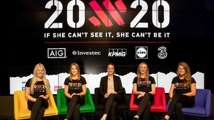 Casey Stoney at the launch of 20x20 with some of the campaign's ambassadors