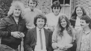 The classic '80s line-up of De Danann, with founder members Alec Finn and Frankie Gavin (pic via the latter's website)