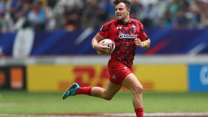 Luke Morgan in action for Wales Sevens
