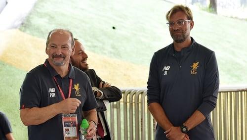 Liverpool chief executive Peter Moore and Jurgen Klopp