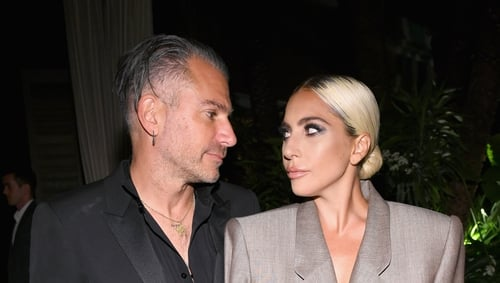 Christian Carino and Lady Gaga attend ELLE's 25th Annual Women In Hollywood Celebration at the Four Seasons Hotel Los Angeles at Beverly Hills on Monday night