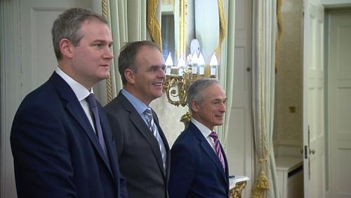 The three ministers received their seals at Áras an Uachtaráin