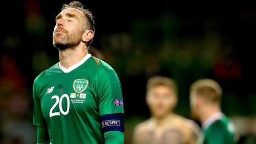 Richard Keogh after Ireland's loss to Wales