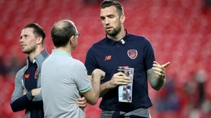 Shane Duffy (R) pictured with Martin O'Neill earlier this year