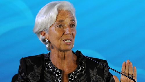 'When there are too many clouds, it takes one lightning bolt to start the storm,' IMF chief Christine Lagarde warns