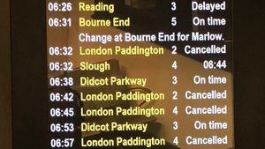Trains into London Paddington were cancelled