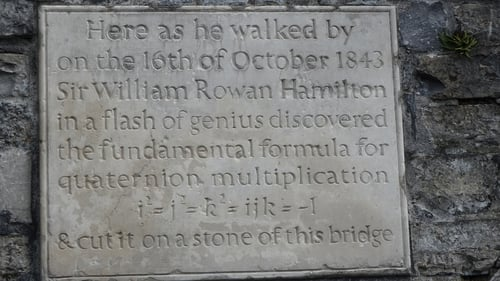 The plaque commemorating flash of inspiration at Broom Bridge in Cabra. Photo: William Murphy https://www.flickr.com/photos/infomatique/