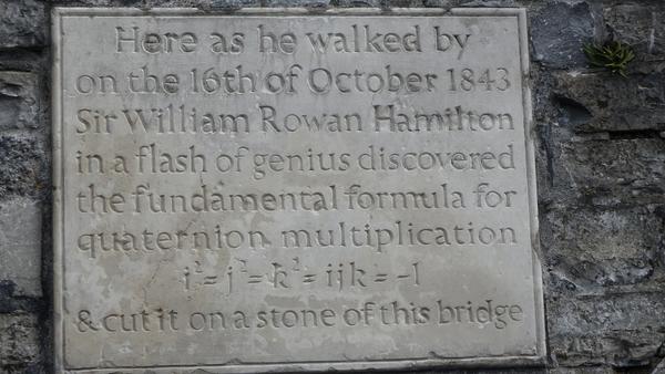The plaque commemorating flash of inspiration at Broom Bridge in Cabra. Photo: William Murphy https://www.flickr.com/photos/infomatique/