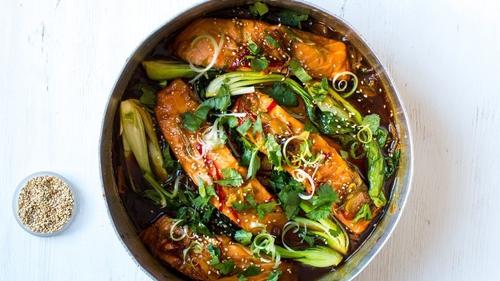 Vietnamese Salmon with Bok Choy
