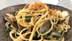 Niall Sabongi's Linguine Alle Vongole with Garlic Pangritata