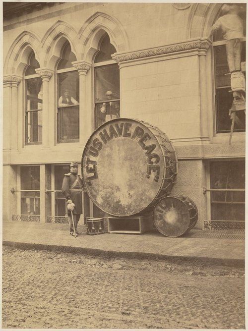 A drum specially made for the Peace Jubilee in Boston c.1869