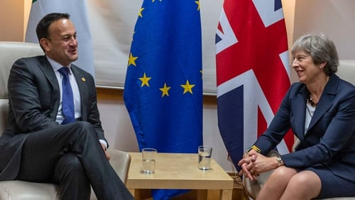 Leo Varadkar met Theresa May ahead of this evening's dinner of EU27 leaders