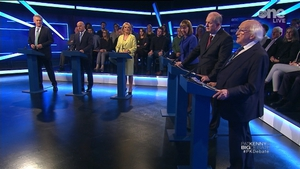 No knock-out blow, but a fast-moving debate (Image: Virgin Media Television)