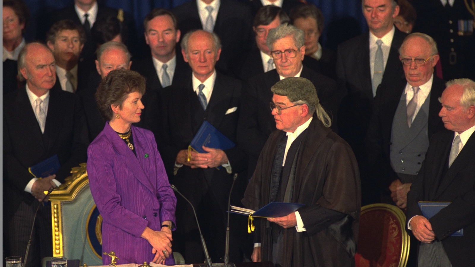 Image - Mary Robinson's inauguration (RTÉ Archives)