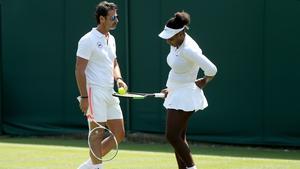 Patrick Mouratoglou and Serena Williams at Wimbledon this year