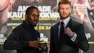 James Tennyson (r) and Tevin Farmer go toe to toe on Saturday
