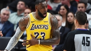LeBron James made his debut for the Lakers last night
