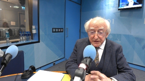 Michael D Higgins was speaking on Today with Sean O'Rourke