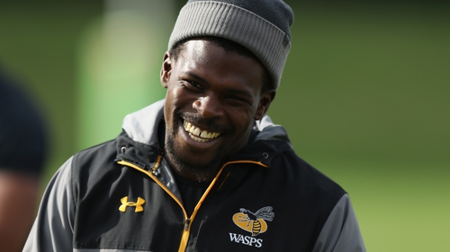 Wade in training with Wasps
