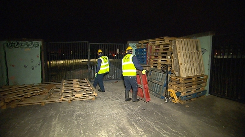 Dublin City Council staff have been carrying out pre-dawn raids