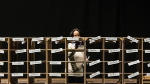 Counting the votes at the RDS in Dublin after the 2016 general election. Photo: Leon Neal/AFP Getty Images
