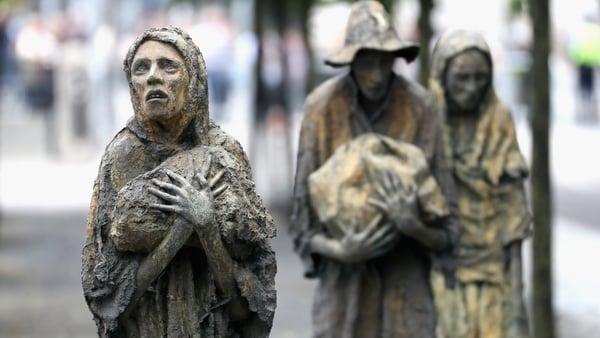 Famine memorial, Dublin. Image: Getty Images