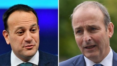 Taoiseach Leo Varadkar (L) and Fianna Fáil leader Micheál Martin